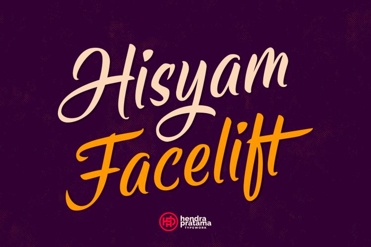 Hisyam Facelift Font