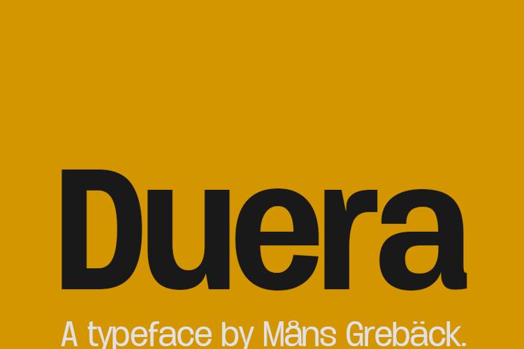 Duera Font