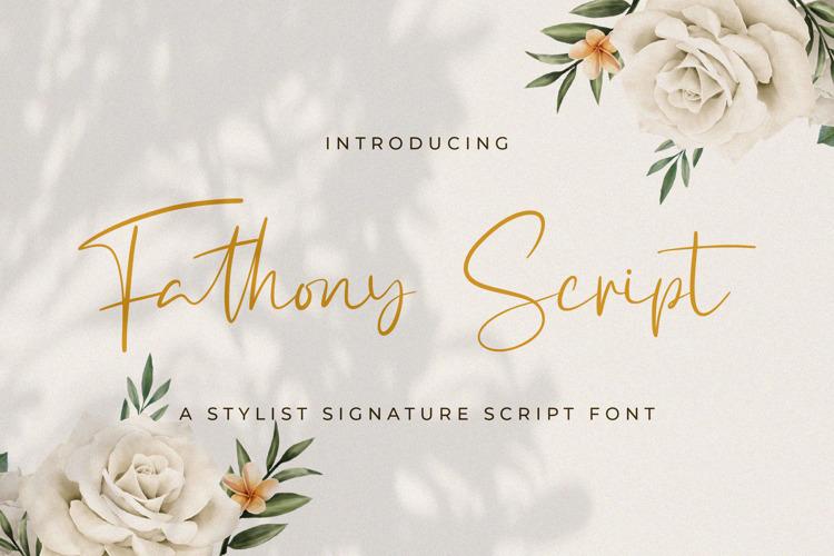 Fathony Script Font