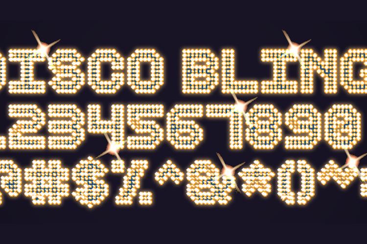 Disco Bling Font