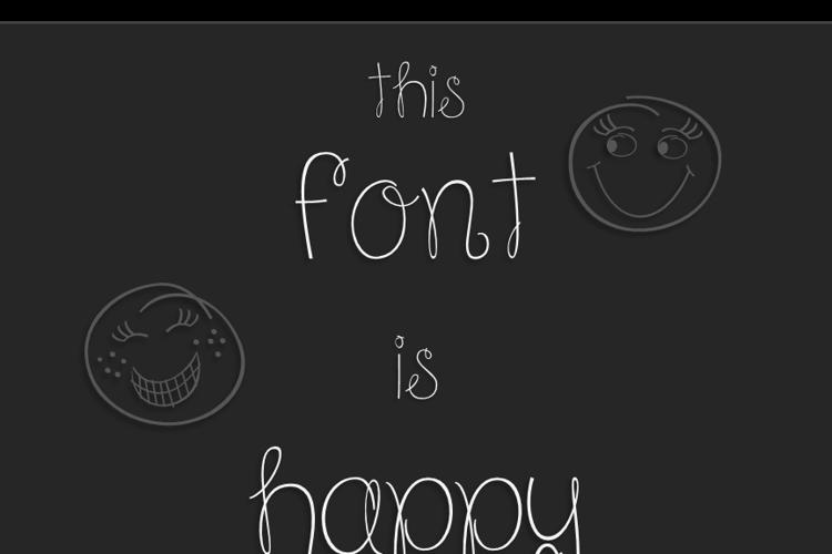 Because I am Happy Font