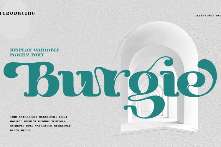 Burgie Black Font