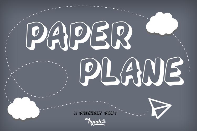 Paper Plane Font