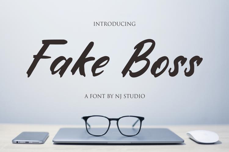 Fake Boss Font