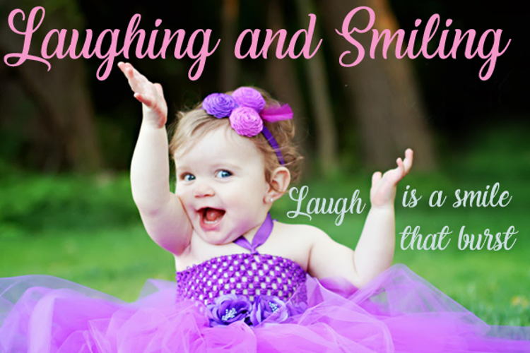 Laughing and Smiling Font