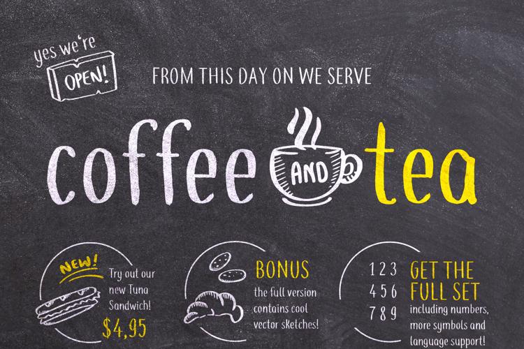 coffee+tea Font