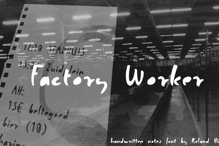 Factory Worker Font