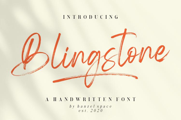 Blingstone Font