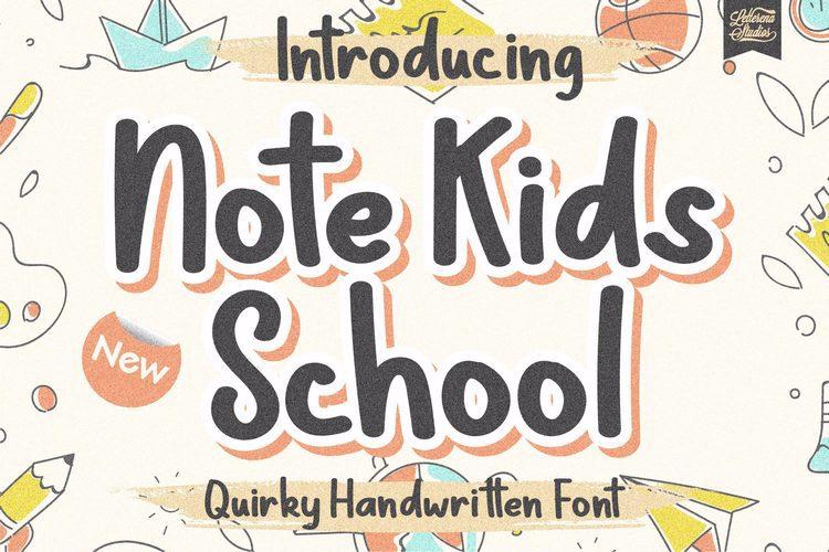 Note Kids School Font