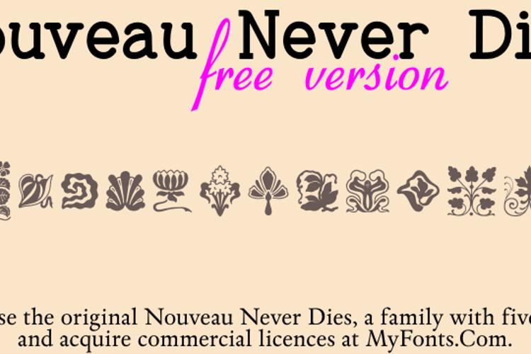 Nouveau Never Dies Free Font