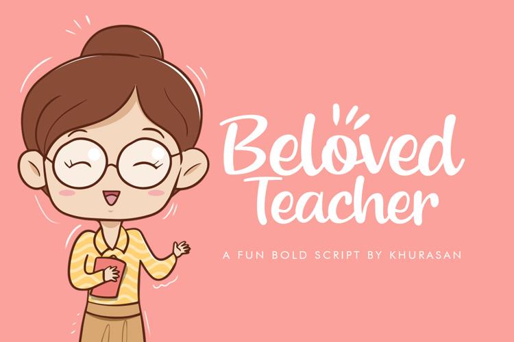 Beloved Teacher Font