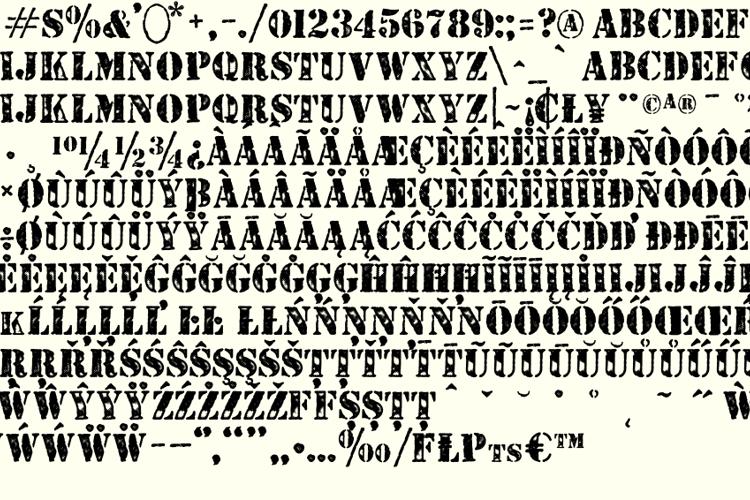 STENCILED Font