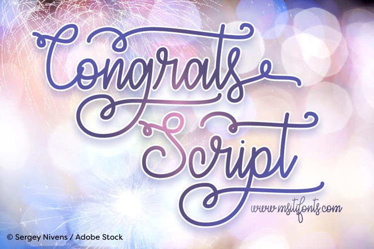 Congrats Script Font