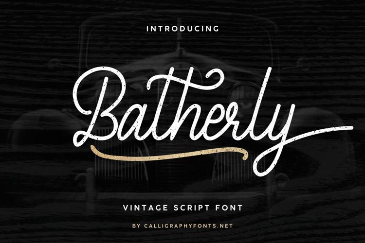 Batherly Font