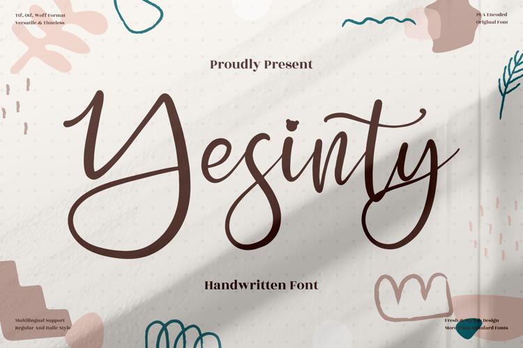 Yesinty Font
