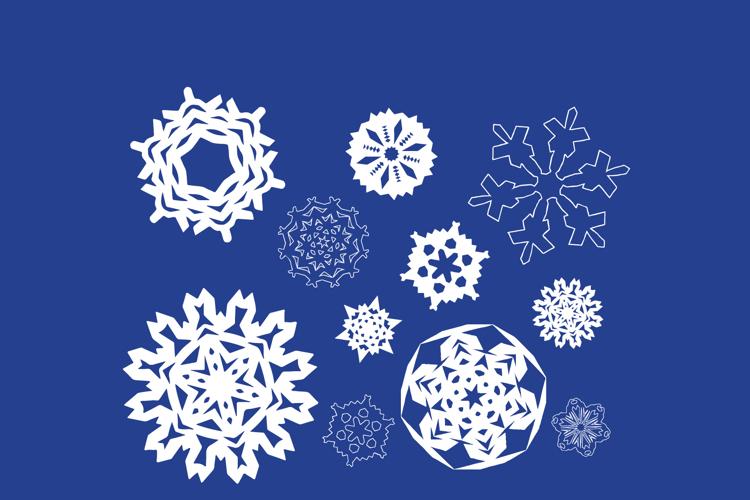 Paper Snowflakes Font