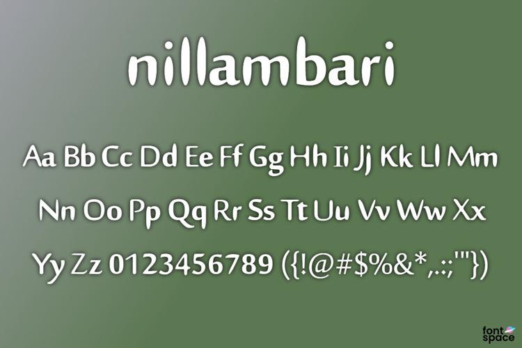 Nillambari Font