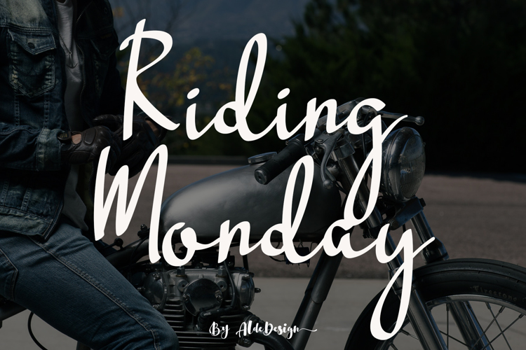 Riding Monday Font