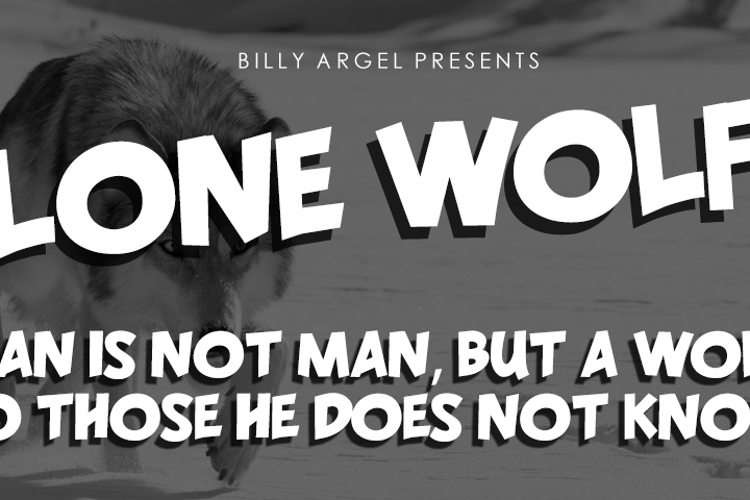 LONE WOLF Font