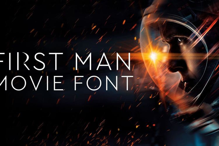 First Man Movie Font