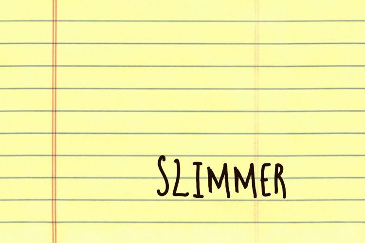 Slimmer Font