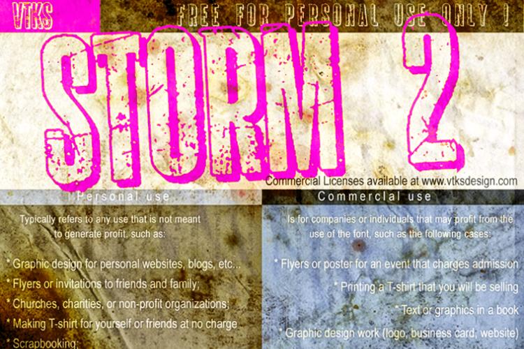 vtks storm 2 Font