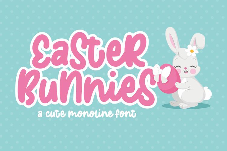 Easter Bunnies Font