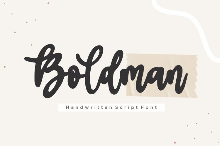 Boldman Font