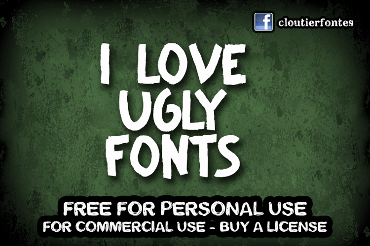 CF I Love Ugly Fonts