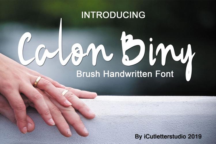 Calon Binni Demo Font