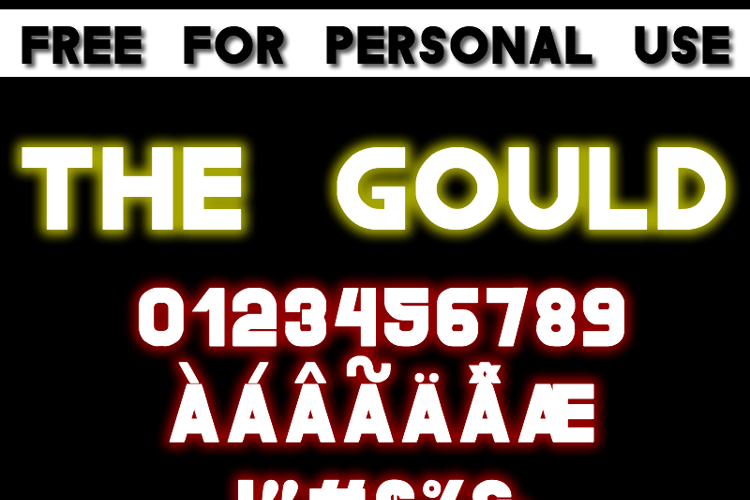 The Gould St Font
