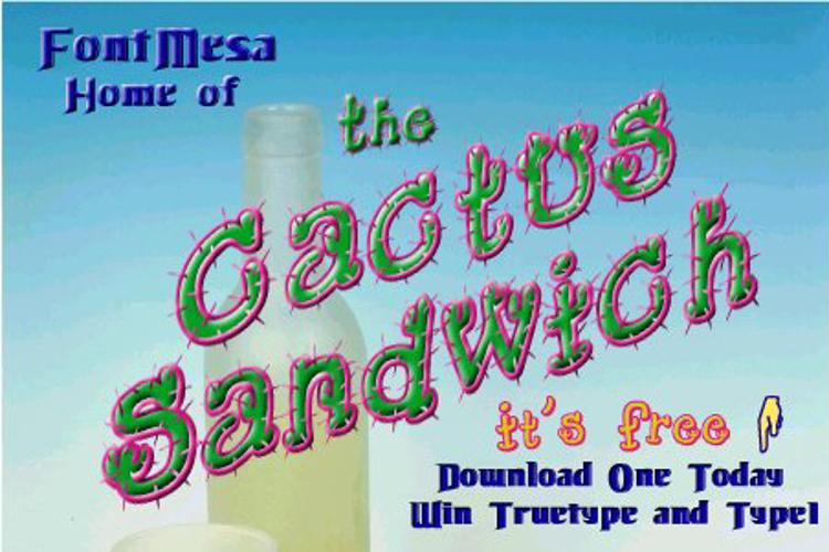 Cactus Sandwich Font