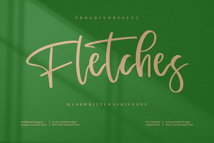 Fletches Font