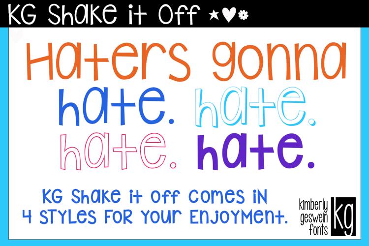 KG Shake it Off Font