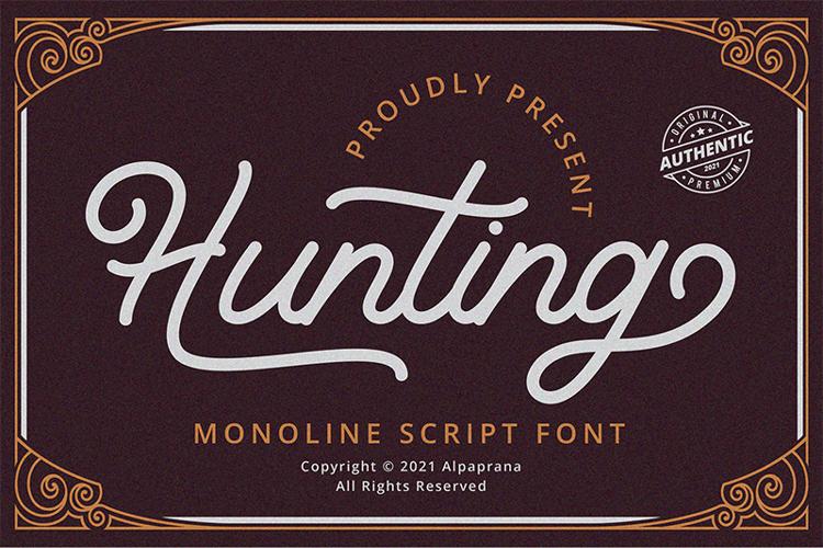 Hunting Script Font