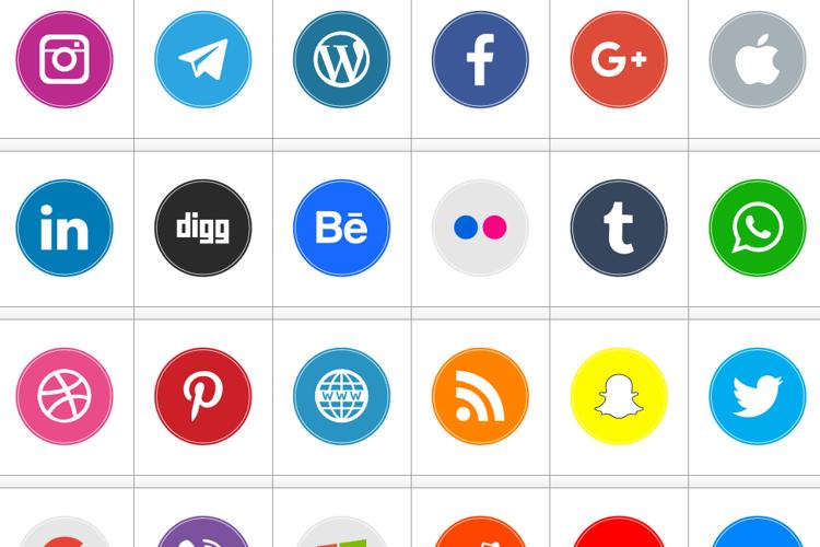 Icons Social Media 10 Font