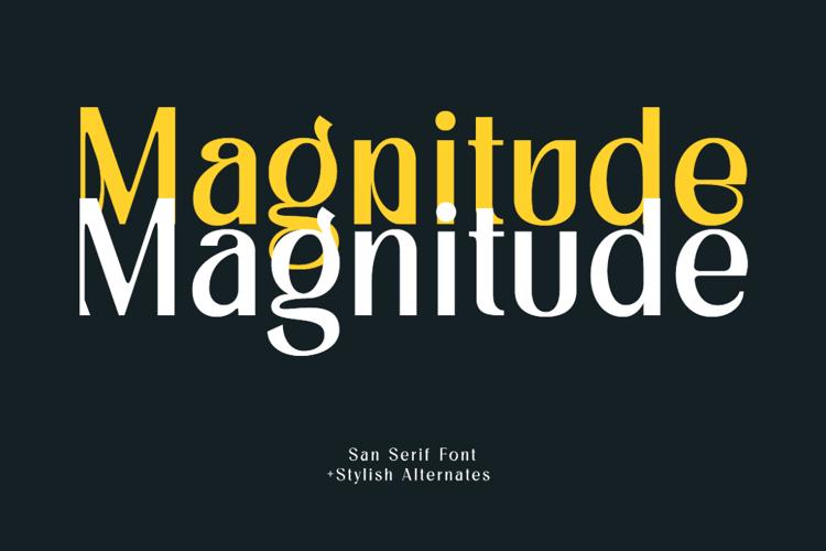 Magnitude Font