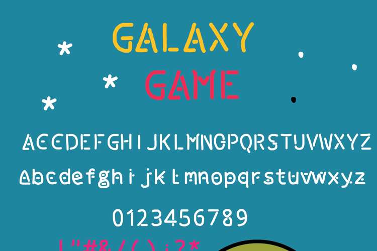 galaxy game Font