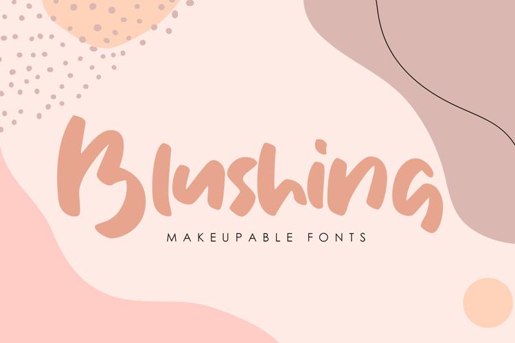 Blushing Font