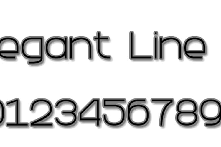 Elegant Line 7 Font