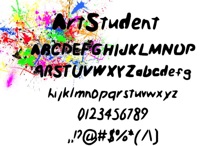 Art_Student Font