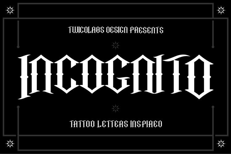 Incognito Font