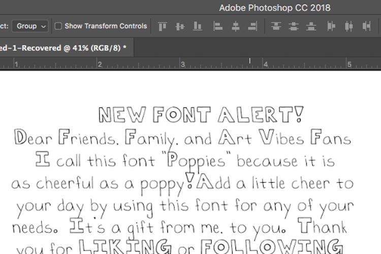 Poppies Font