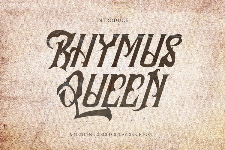 Rhymus Queen Font