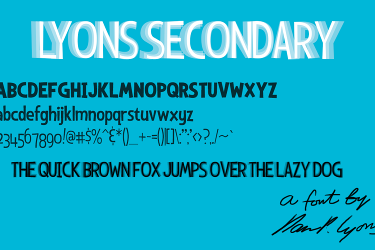 Lyons Secondary Font