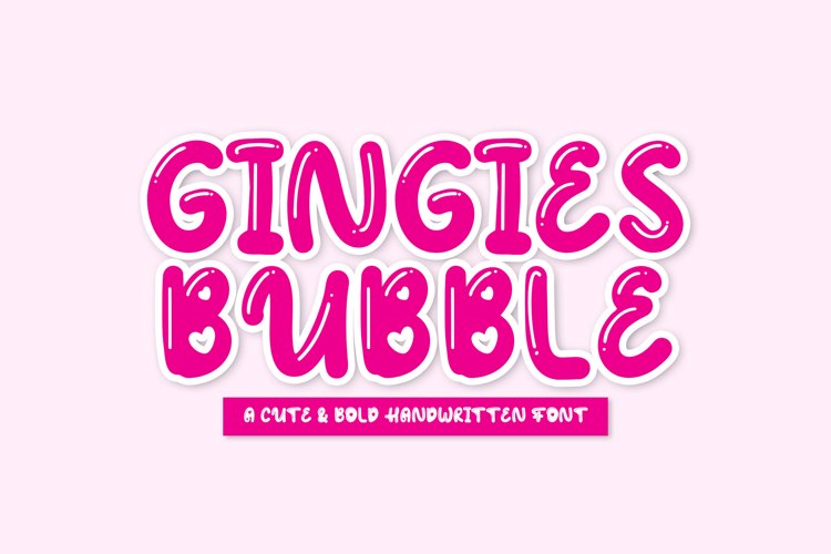 Gingies Bubble Font