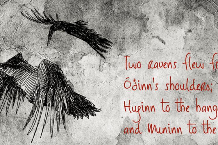 DK Huginn And Muninn Font