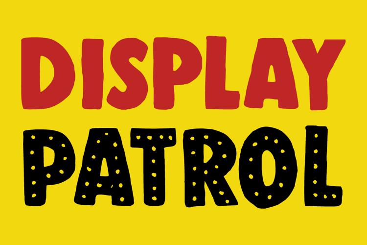 DK Display Patrol Font