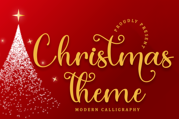Christmas Theme Font