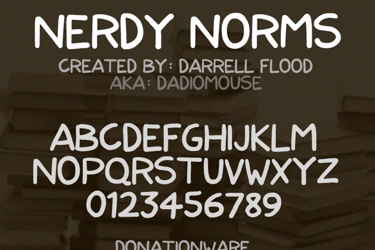 Nerdy Norms Font